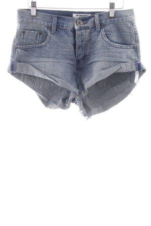 One x Oneteaspoon Shorts blau Jeans-Optik