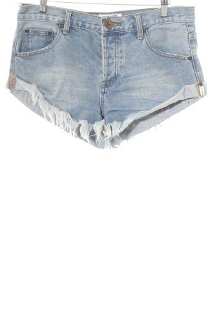 One x Oneteaspoon Shorts graublau-stahlblau Casual-Look
