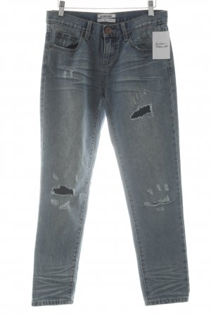 One x Oneteaspoon Slim Jeans blau Destroy-Optik