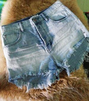 One teaspoon Pantalón corto de tela vaquera azul celeste