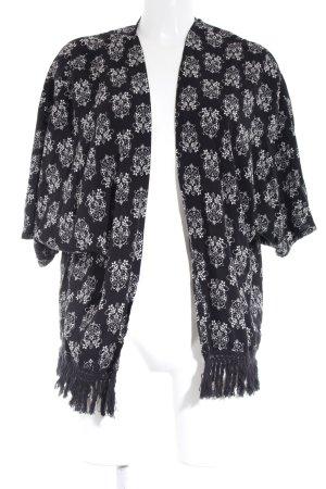 ONEILL Blusenjacke schwarz-weiß florales Muster Beach-Look