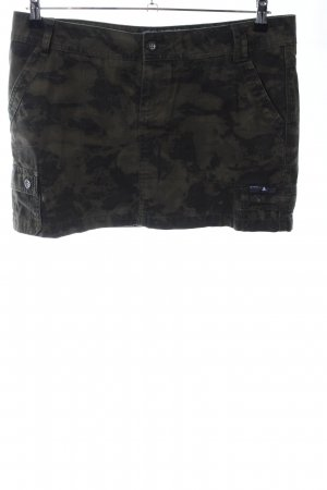 ONEILL Jupe cargo kaki-noir motif de camouflage style décontracté