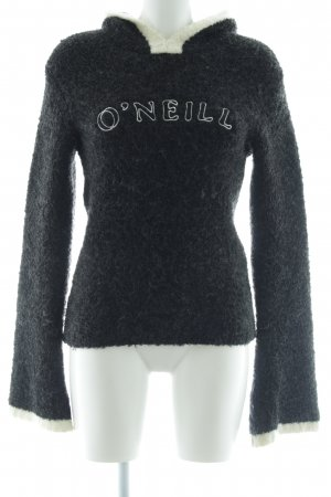 ONEILL Kapuzenpullover schwarz-wollweiß Casual-Look