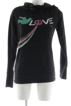 ONEILL Kapuzensweatshirt schwarz Schriftzug gedruckt Casual-Look