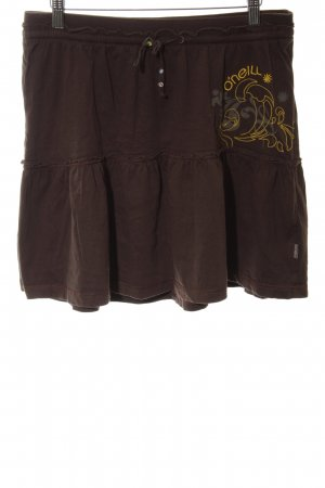 ONEILL Minirock bronzefarben-hellorange abstraktes Muster Casual-Look