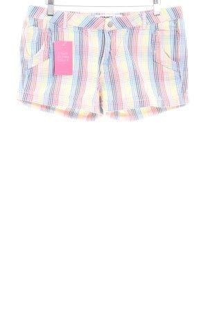 ONEILL Shorts blassgelb-kornblumenblau Vichykaromuster Casual-Look