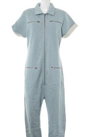 Onepiece Jumpsuit hellblau meliert schlichter Stil