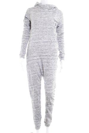 Onepiece Jumpsuit hellgrau-grau meliert Casual-Look