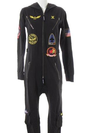 Onepiece Jumpsuit zwart militaire uitstraling