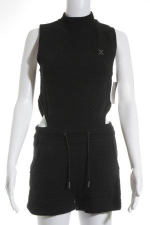 Onepiece Jumpsuit schwarz Steppmuster Casual-Look