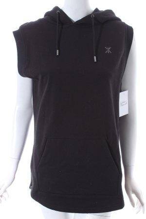 Onepiece Kapuzensweatshirt schwarz sportlicher Stil