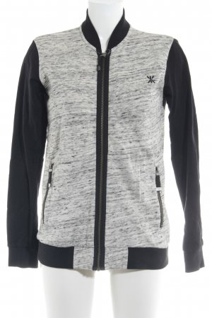 Onepiece Sweat Jacket oatmeal-black color blocking casual look