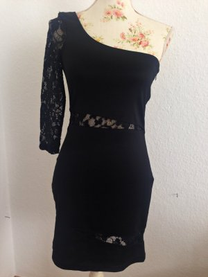 Oneshoulder Kleid mit Spitze
