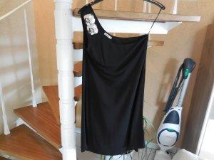 Oneshoulderkleid mit Metallpatches am Träger in schwarz von Killah