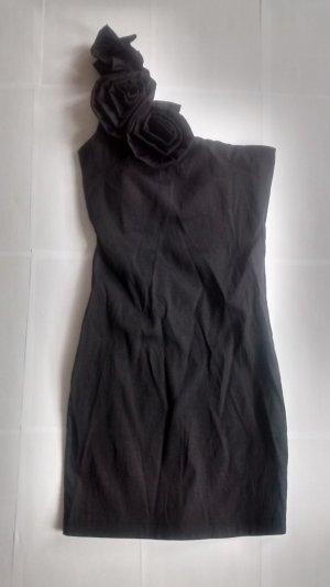onesoulder Minikleid schwarz metallic Gr. S 36 neu! Kleid mini kurz gothic