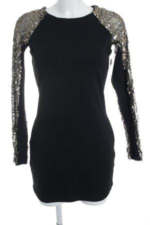oneteaspoon Vestido de lentejuelas negro-color oro estilo fiesta