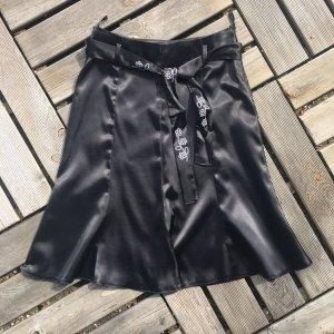 Godet Skirt black polyester
