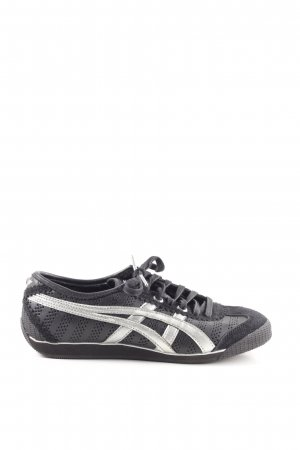 reputable site dcffc 24566 Onitsuka tiger Lace Shoes black-silver-colored athletic style