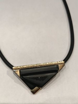 CD Collier Necklace black-gold-colored