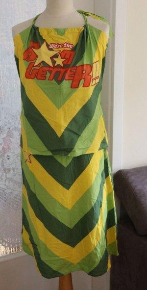 Only - 2Teiler - Top und Skirt - grün/gelb - Gr. L - Neu ohne Etikett