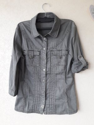 Only : 3 / 4 Arm Bluse zum krempeln Größe 36-38 neuwertig in khaki - oliv