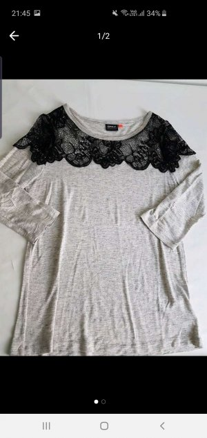 Only Camiseta gris claro
