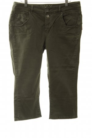 Only 3/4-jeans khaki casual uitstraling