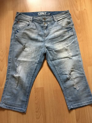 Only Jeans a 3/4 blu acciaio