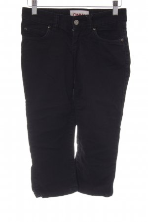 Only 3/4-jeans zwart-zilver casual uitstraling