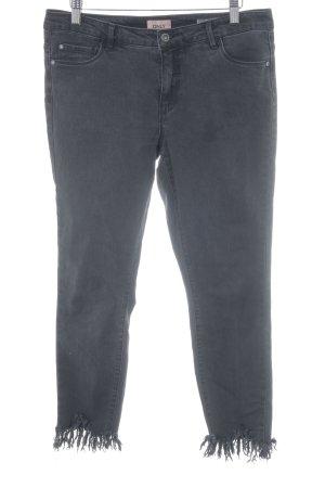 Only Jeans a 7/8 grigio scuro stile povero