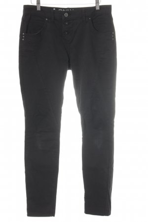 Only 7/8 Length Jeans black biker look