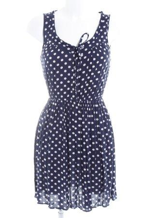 Only A-Linien Kleid dunkelblau-weiß Punktemuster Casual-Look