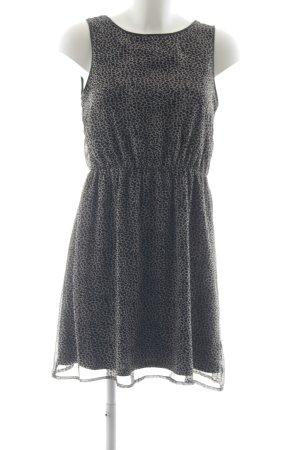 Only A-Linien Kleid schwarz-hellgrau abstraktes Muster Casual-Look