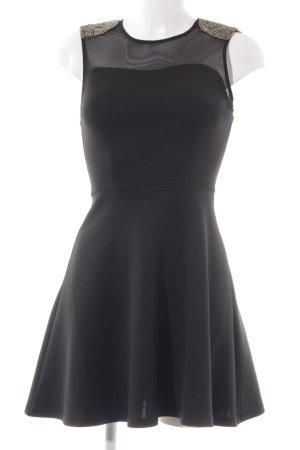 Only A-Linien Kleid schwarz Metall-Optik