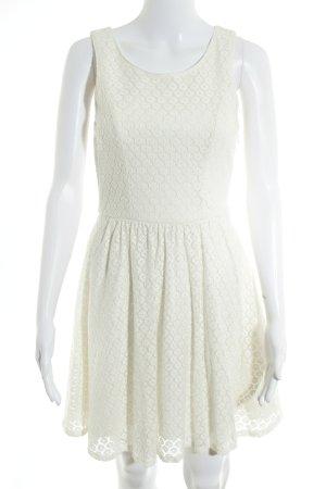 Only A-Linien Kleid wollweiß Romantik-Look