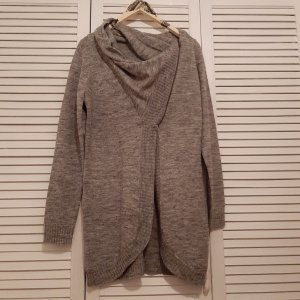 Only Knitted Wrap Cardigan grey-dark grey