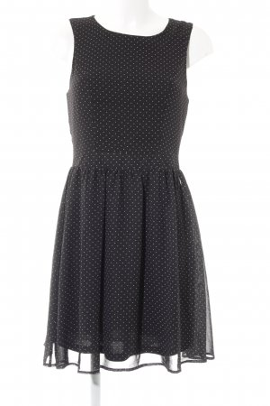 Only Abendkleid schwarz-weiß Punktemuster 20ies-Stil