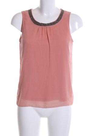 Only ärmellose Bluse pink-schwarz Casual-Look