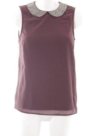 Only ärmellose Bluse braunviolett klassischer Stil