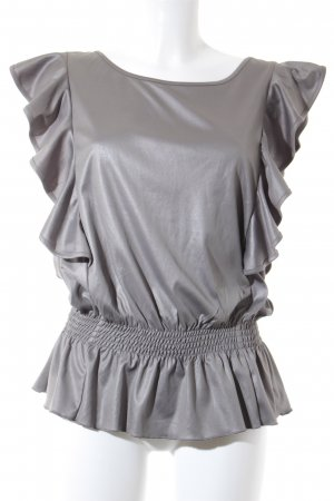 Only Blusa sin mangas gris reluciente
