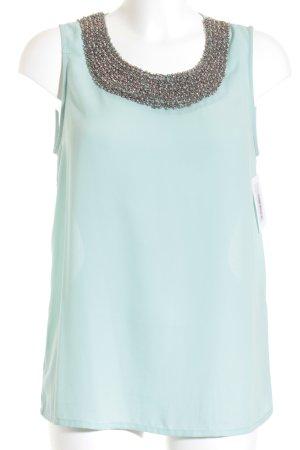 Only Blusa sin mangas azul claro elegante