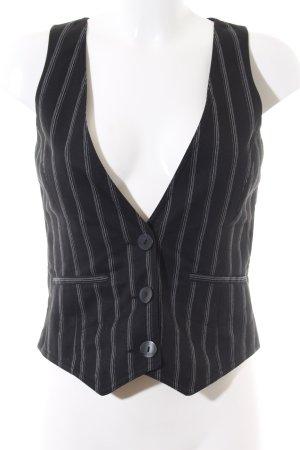 Only Gilet de costume noir-blanc motif rayé style d'affaires