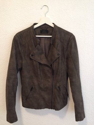 Only Biker Jacket dark brown-ocher