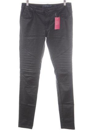 Only Biker jeans zwart Biker-look