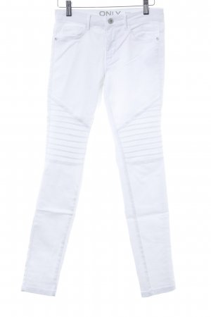 Only Jeans da motociclista bianco Stile ciclista