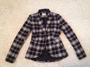 ONLY Blazer Jacket schwarz weiß kariert Gr. S 36 XS 34 NP €80