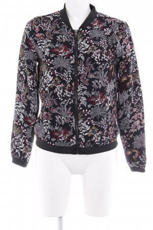 Only Blouson schwarz florales Muster Casual-Look