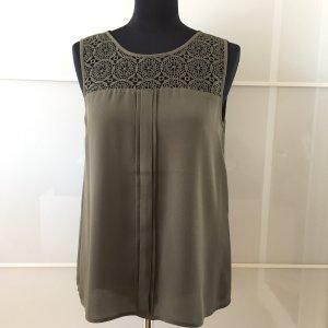 Only Mouwloze blouse khaki