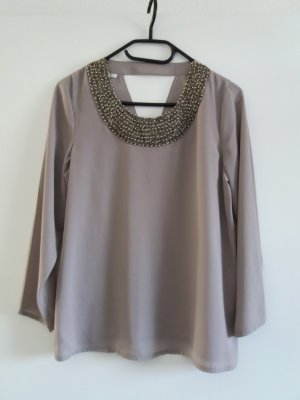 Only Blouse gris brun