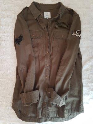 ONLY Bluse Hemd Army Patches Khaki wie NEU